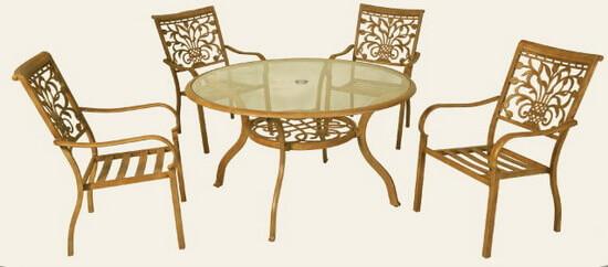 鋁合金庭園桌